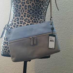 Baby blue and grey Ralph lauren purse